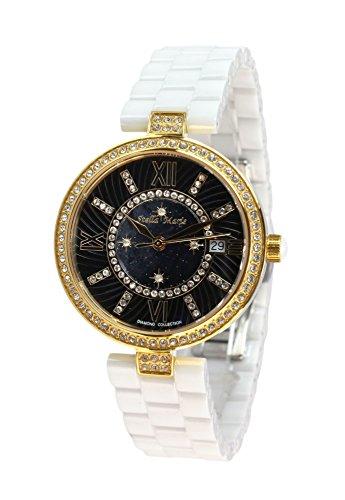 Stella Maris Reloj pulsera analógico de Cuarzo para Mujer - Correa cerámica Premium - Esfera de Nácar - Diamantes y elementos Swarovski - STM15SM5
