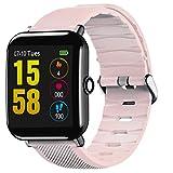 OUKITEL Intelligente Armbanduhr Bluetooth Fitness Uhr Uhr Wasserdicht Touchscreen Schrittzähler für iOS für Android Stevlogs 3 Long Strap 123MM Short Strap 88mm