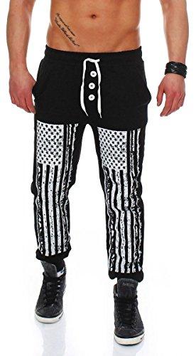 Jogginghose im American Style Sweatpants Jogpants Baggy Sporthose Pants Trainingshose Fitness Freizeithose Loose Haremshose Pumperhose Bodybuilding 7357 Herren (XS, (Für Männer Zumba Kostüm)