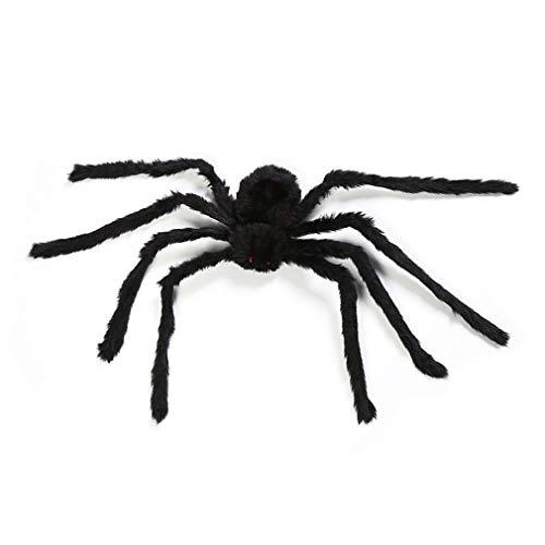Ballylelly-Dekorationen Requisiten Fake Spinne für Spukhaus Bars Dekorative Versorgung Simulation Scary Plüsch Spiders Tricky Spielzeug (schwarz - 75cm) von Ballylyly