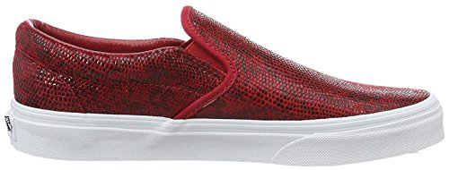 Vans Unisex – Adulto Classic Pantofole Rosso (Rot)