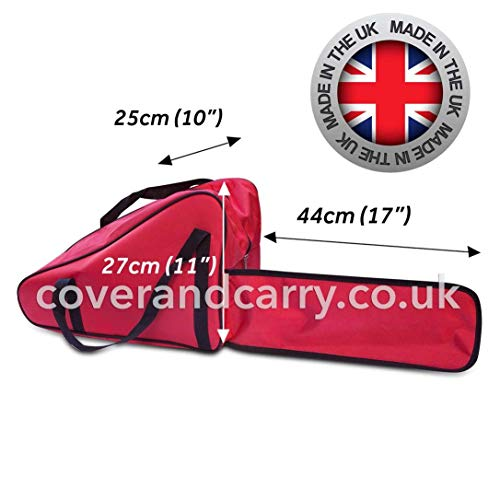 "coverandcarry Deluxe Chainsaw storage bag for 12"", 14"" and 16"" models. Made in the UK"