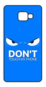 Happoz Angry Blue Face - Don't Touch My Phone Mobile Phone Back Panel Printed Fancy Pouches Accessories Z1700