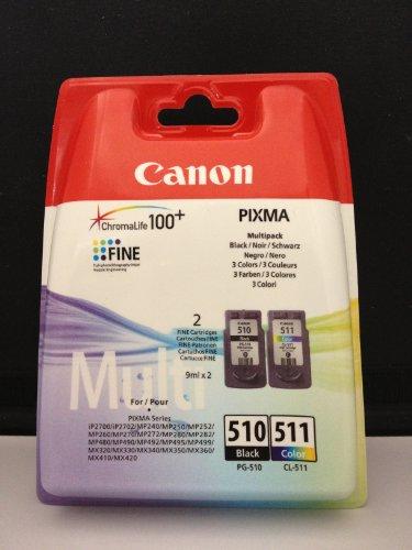2 Original Druckerpatronen für Canon Pixma MP230 MP 230 (Black/Color)