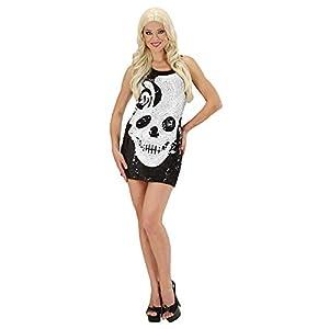 WIDMANN Générique Traje del cráneo de las señoras Vestido de lentejuelas grandes de Reino Unido 14-16 de 70 Disco del vestido de lujo