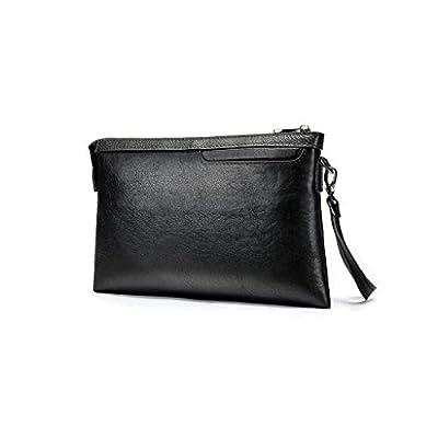 Men/'s Clutch Genuine Leather Long Wallet Zipper Handbag Card Checkbook Bag US