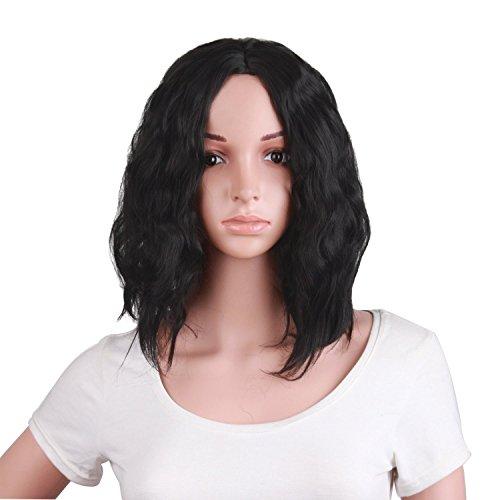 Sexy Schöne Frau Kurze Lockige Haare Rolle Spielen Perücke Und Täglich Gebrauch Perücke (braun Schwarz) (Kurze Lockige Perücken)