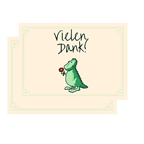 Dankeskarten - Vielen Dank! Dino: Dankeschön, Danksagung nach Hochzeit, Geburtstag, Konfirmation u.v.m. : 20 Karten mit 20 Umschlägen.