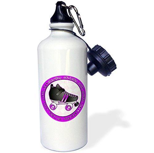 Moson Sport Wasser Flasche Geschenk, Derby Küken Rolle mit Es Lila und Weiß mit Schwarz Roller Skate Weiß Edelstahl-Flasche für Frauen Herren Klauenhammer/Latthammer - Lila Brita-wasser Flasche