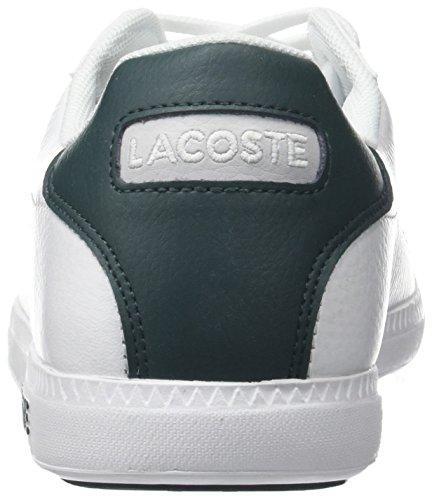 Lacoste Uomo Laureato Lcr3 118 1 Spm Sneaker Bianco (wht / Dk Grn)