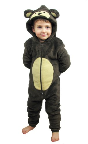 Childrens Boys and Girls Onesie Fluffy Fleece MONKEY PUG UNICORN SHEEP CAT PUPPY FOX TEDDY BEAR REINDEER GORILLA FOX DINOSAUR or Rabbit in Kids Age 2 - 13 years