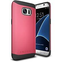 Funda Galaxy S7 Edge, Snugg Samsung Galaxy S7 Edge Case Slim Carcasa de Doble Capa [Infinity Series] Revestimiento con Protección Anti-Golpes – Rojo