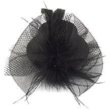 Sourcingmap - Tocado para cabello (con plumas), color negro