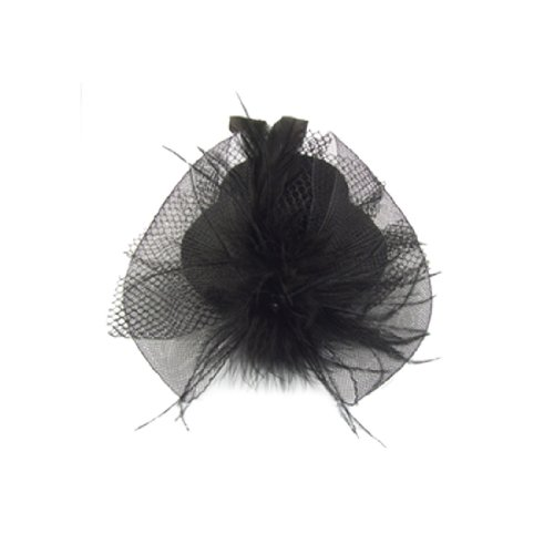 Sourcingmap Bibi en forme de mini chapeau avec plumes Noir