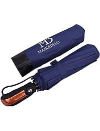 Paraguas Plegable con Apertura y Cierre Automático Compacto y Ligero a Prueba de Viento y Agua Anti UV Resistente Paraguas de Viaje