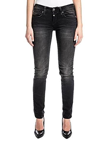 Timezone Ninitz, Jeans Femme, Noir-Schwarz (Pirate Wash 9200), 33 W/34 L