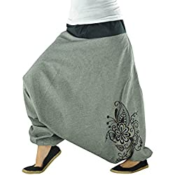 virblatt Unisex Yoga from Women and Men Long Yoga Pants Made of Cotton Yoga Pants and Yoga Clothes from Flower Embroidery gy
