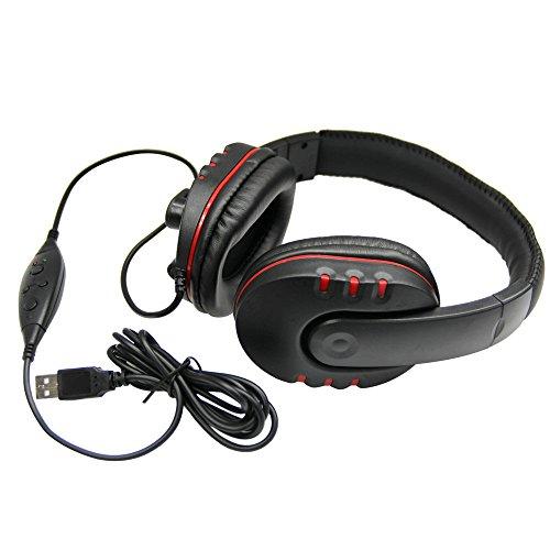 Stereo-Kopfhörer für Sony PS3 PS4 PC (USB, verkabelt) (Kopfhörer Sony Amp)