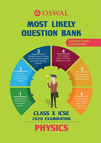 Most Likely Question Bank for Physics: ICSE Class 10 for 2020 Examination