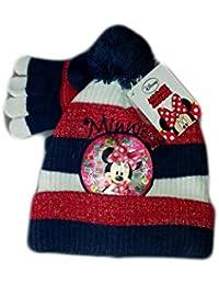 Disney Set 2pz cappello cappellino guanti bimba bambina baby Minnie rosso TG  52 0668e701bc8f