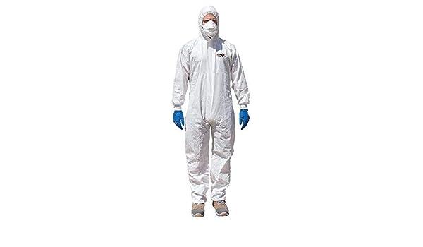 Tuta Monouso Bianco 65 Gr TNT Laminato Misura XL