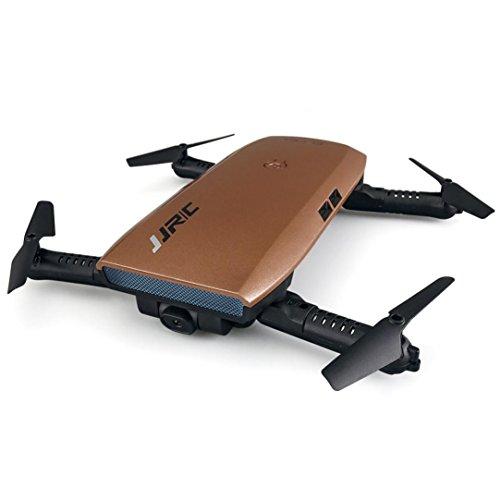 QUINTRA JJRC H47 Elfie Faltbare Tasche Drohne Mini - Fpv Quadcopter Selfie 720p Wifi - Kamera3batterien) Gold