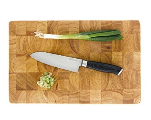 makami Premium Santokumesser aus japanischem Damaststahl VG-10 in Geschenkverpackung – HRC60 – Küchenmesser - 3
