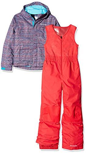 Columbia Schnee-Set mit Jacke und Hose für Kinder, Buga, Nylon, blau (atoll) (texture print), Gr. XXS