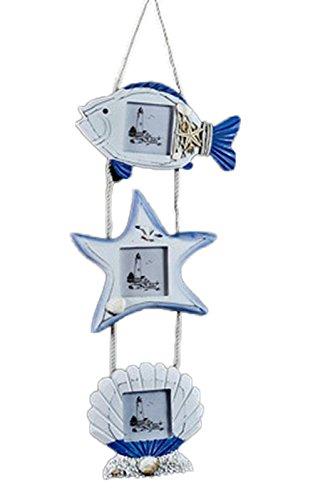 String Bilderrahmen Fisch Seestern Muscheln Stil Bilderrahmen Hängen Wand Ornamente Decor für Home Büros Kinderzimmer ()