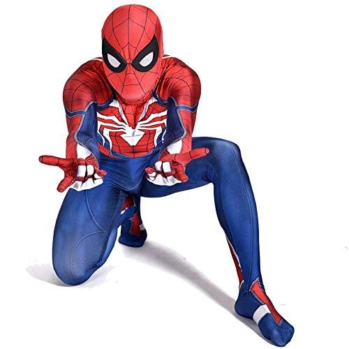 PIAOL Spider-Man Bürgerkrieg PS4 Kostüm Anime Cosplay Halloween Kostümfest Siamesische Strumpfhose,Red-L (Bürgerkrieg Kleider Für Mädchen)