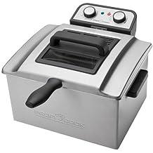 ProfiCook PC-FR 1038 Freidora de Acero Inoxidable, 3 cestas, Desmontable, 3000