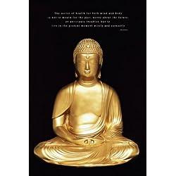 Póster con mensaje de inspiración de Buda. Meditación en estado puro.