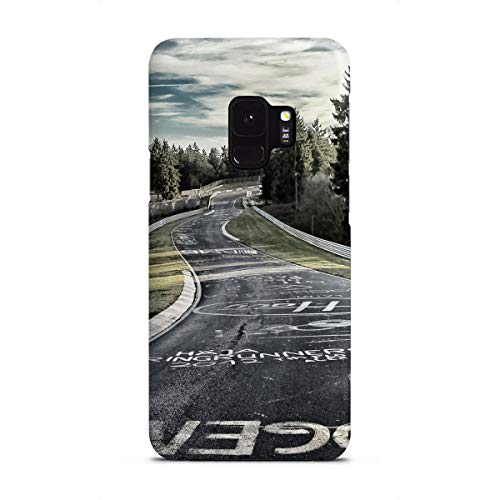 artboxONE Samsung Galaxy S9 Premium-Case Handyhülle Fahrbahn in Kreide von Olaf Pohling -