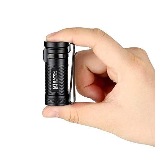 OLIGHT S1 MINI Baton LED Taschenlampe 600 Lumen 130 Metern Leuchtweit - Kaltes Weiß LED Kompakt Taschenlampen mit Magnetische Endkappe