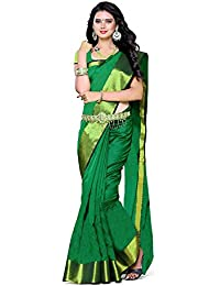BuyOnn Women's Cotton Silk Saree With Blouse Piece(Multicolor ,Free Size)