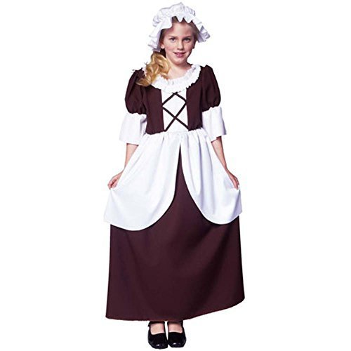 Child's Colonial Girl Halloween Costume (Size:Small 46) by RG ()