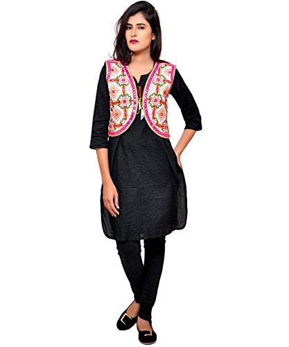 Banjara Women's Cotton Blend Kutchi Jacket/Koti (SSP-RJW03 - Red)  available at amazon for Rs.244
