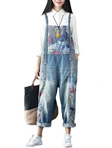 Vogstyle Damen Ideal für Frühling, Sommer und Herbst, einfach zu kombinieren mit T-Shirts, Bluse oder Sneakern. Overall One Size Gr. Größe, Stil 11-Blue