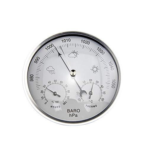 A+ Barometer mit Thermometer und Hygrometer + Meteorologische Station + Barometrische Druckmessungen - einfache und einfache Ablesung