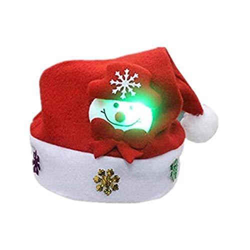Erwachsene LED Weihnachtshut Weihnachtsmann Ren Schneemann Weihnachtsgeschenk Kappe...