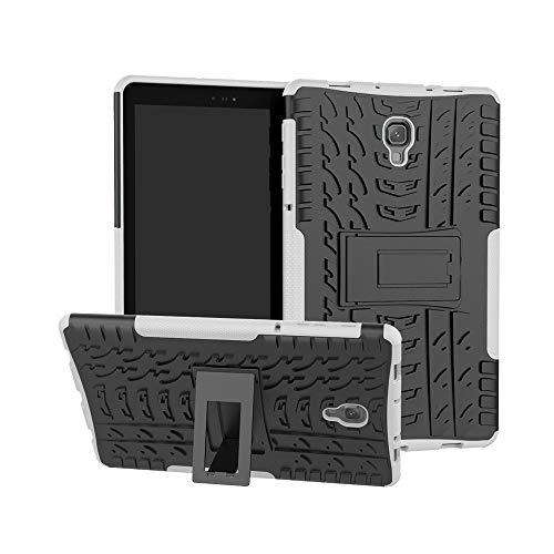 Schutzhülle kompatibel für Samsung Galaxy Tab A5 (T590 / T595) 10.5 / Registerkarte S4 (T830 / T835) 10.5, Robuster Hybrid-Hartgummi-PC-Ständer
