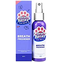 Apoorry Pet Spray Dog Oral Care Bad Breath Teeth Cleaning Breath Freshener Plaque Remover