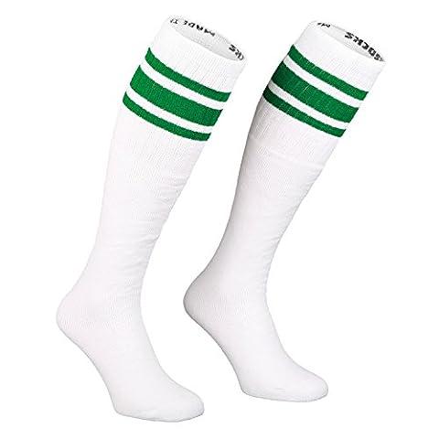 Skatersocks 25 Inch Tube Socken Kniestrümpfe oldschool Sportsocken weiß grün