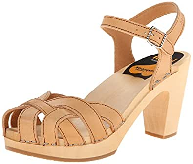 Swedish Hasbeens  Pearl Sky High, Sandales Bout ouvert femme - beige - Beige (Nature),  6 UK 39 EU