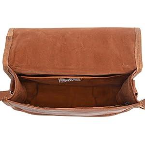 418sMNqEoBL. SS300  - Gusti Leder Taylor - Bolso bandolera de piel (estilo vintage), color marrón