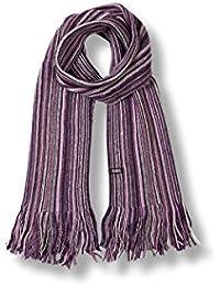 noTrash2003 Schal mit Fransen in drei Farben by Atlantis für kalte Wintertage