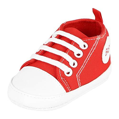 Krexus Krabbelschuhe Baby Sneaker Rot Gr. 0-6 Monate XB01400_0