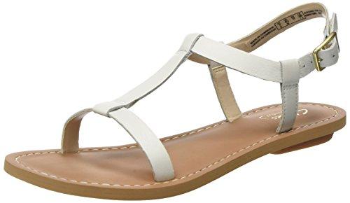 Clarks Voyage Hop, Salomés Femme Blanc (White Leather)
