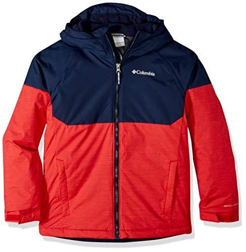 Columbia Boys Alpine ActionIi Jacket, Mountain Red Heather, Collegiate Navy, Small -