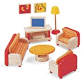 Pintoy Dolls House Wooden Accessory set - Living Room